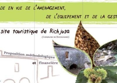 Etude en vue de l'aménagement, de l'équipement et de la gestion du site touristique de Richjusa – Mulinu di l'orsu (Commune de Bocognano) – Mairie de Bocognano