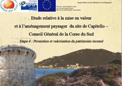 Etude relative à la mise en valeur et à l'aménagement paysager du site de Capitello, propriété du Département de la Corse du Sud –  Conseil Général de la Corse du Sud