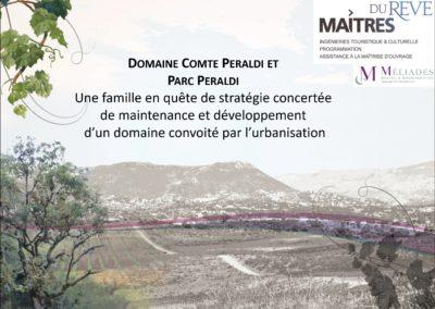 Étude de définition et programmation d'une valorisation d'un domaine viticole et parc urbain dans le grand Ajaccio par une offre hébergement séminaire école du goût – Domaine Peraldi